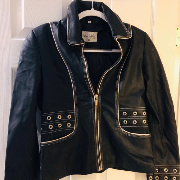 0a9f21a2cf9f Pamela McCoy Jackets & Coats | Black Leather Jacket | Poshmark